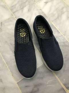 百搭點點深藍懶人厚底鞋