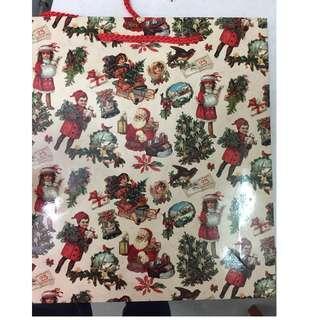 Paper bag on Christmas Santa claus