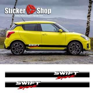 Car Graphic (Swift Sports) - Side Stripe