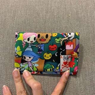 Tissue pouch with card slot tokidoki inspired fabric