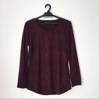 Authentic Marks and Spencer Burgundy Top #singles1111