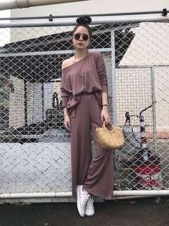 [BACK IN DEMAND] [PO] Simply Basic 2pcs Slit Set in Brown