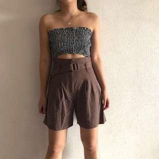 *NEW* Sienna Linen Shorts in COCOA (M, UK 6-8)