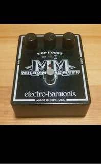 Electro Harmonix Micro Metal Muff Distortion Guitar Pedal
