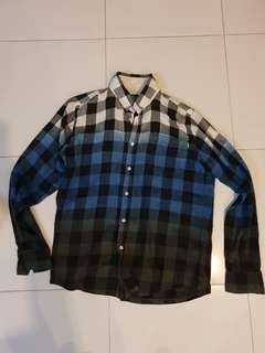 Used stussy check fading design shirt mens