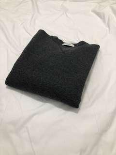 🇰🇷鐵灰太空棉假二件式上衣