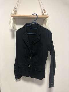 Blue black blazer