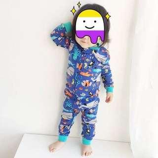 Baby zip up sleepsuit