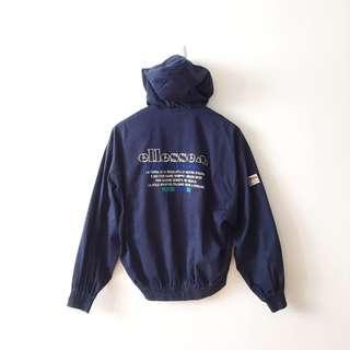 Ellesse Vintage Full Zip Button Jacket Hoodie