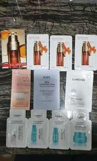 *$5 for 10*Assorted Branded Skincare Samples*FOC normal mail*