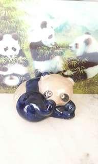 Antiques Porcelain Panda Coin Box