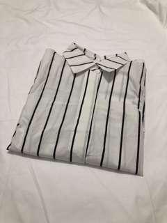 🇰🇷細直條長版襯衫