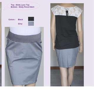 *Price Reduced!  BN Maternity Molly Pencil Skirt (Black, Size M)