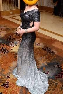 Ombre black silver Gown