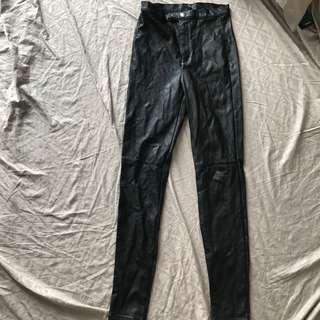 HnM leather pants