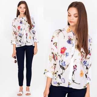 (M) BNWT The Closet Lover Aurora Floral Shirt