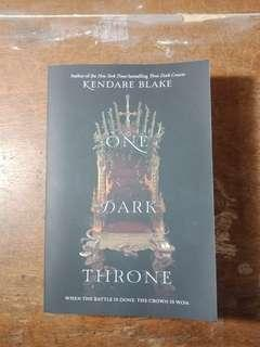 """One Dark Throne"" by Kendare Blake"