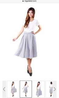 MGP Label Navy Gingham Skirt