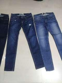 美國hollister 牛仔褲 size 27'28 fit