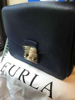 ‼️REDUCED‼️Authentic FURLA Metropolis Shoulder Bag in Navy Blue