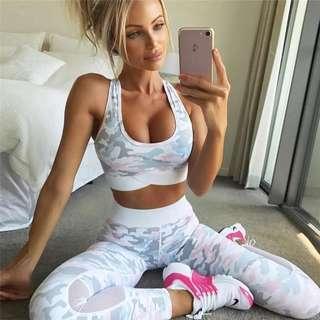 Pink camo gym set