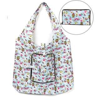 INSTOCK ❤ Cartoon Foldable Waterproof Lightweight Recycle Bag ❤ Small Size Travel / Shopping TOTE BAG Zipper Type