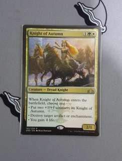 Magic The Gathering - Knight of Autumn Creature Card