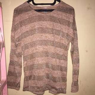 Stripe knit tee