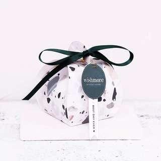 Dark Green Terrazo  Design Paper Box
