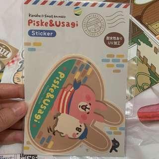 kanahei 兔兔p助 sticker