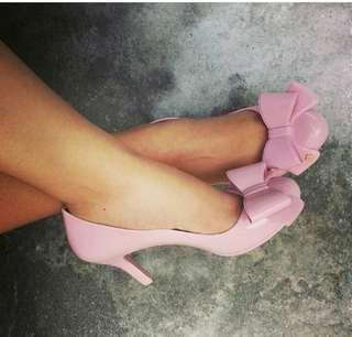 Garage Sale - Size USA6.5,  Used Original QUINCE Pink Jelly Bunny Shoes