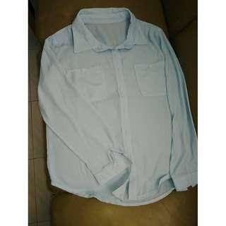 二手雪紡天藍恤衫