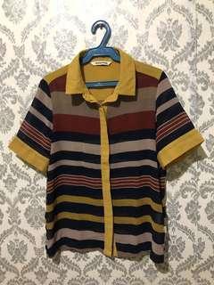 Sheer Stripe Polo