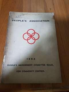 #HM3 - 1964 People's Association management Committee rules