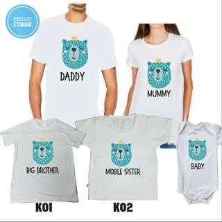 Family Set Tshirt - Animal Series - with personalized name