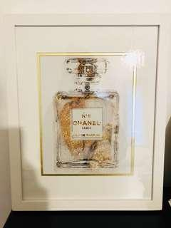 Chanel No 5 White Gold Art - 15.5 x 12 inches