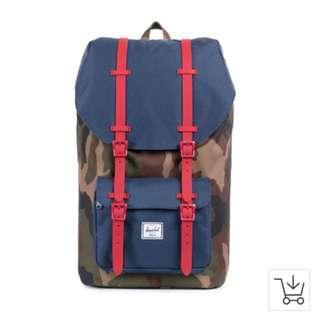 🎒 Herschel Little America Backpack Woodland Camo 17 litre 🎒