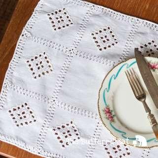 RESERVED Vintage crochet tray mat, dress mat