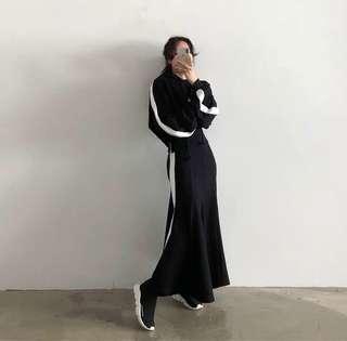 [PO] Spo Hoodie Maxi Dress in Black