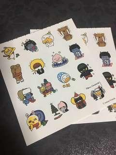 Instock Official Kakao friends family sticker sheet Apeach Muzi ryan Neo Tube Frodo