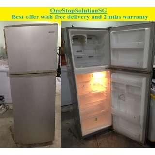 Samsung (185L) 2doors refrigerator / fridge ($170 + free delivery and 2mth warranty)