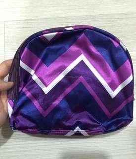 冬季紫戀雙層化妝包-全新