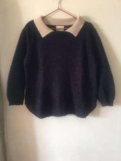 🔖(降價)冬季衣物出清-假兩件針織上衣