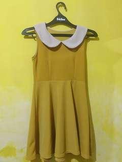 Dress mustard cute