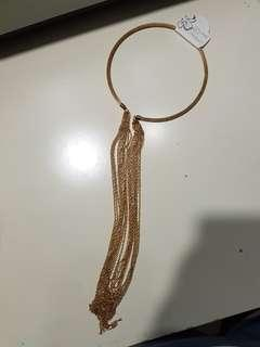Dramatic glam gold dangling chain necklace brand new