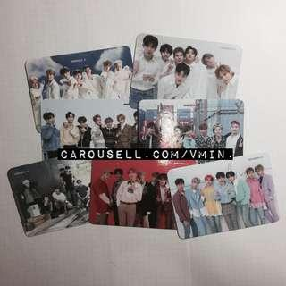 monsta x ot7 photocards