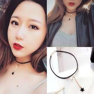 Black Choker with Star