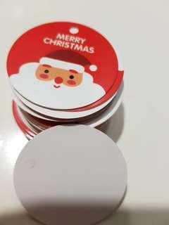Merry Christmas Xmas Santa Gift Tag Card
