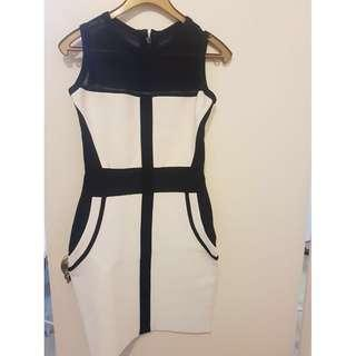 One piece dress (black and white)