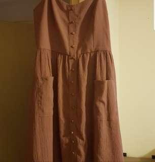 Midi skater dress with pockets